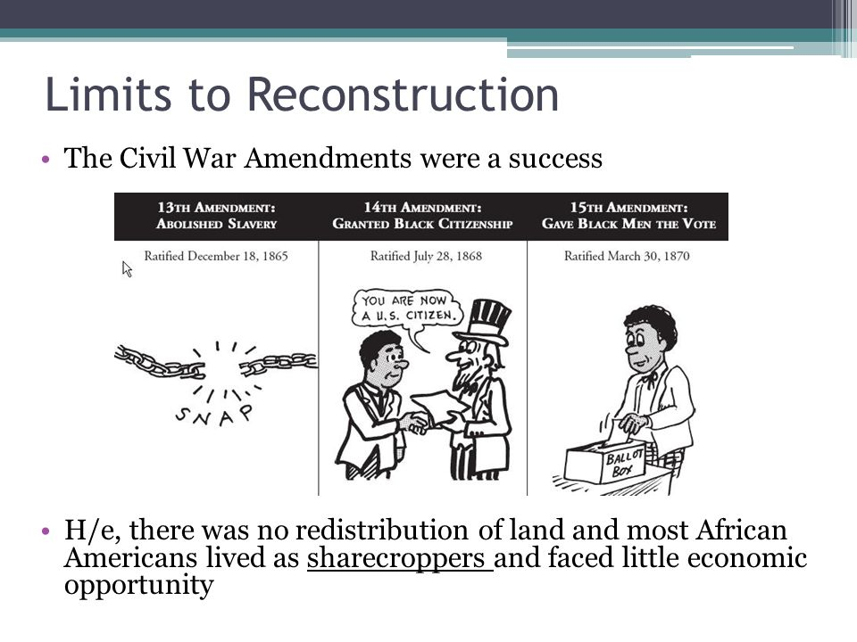 Limits to Reconstruction