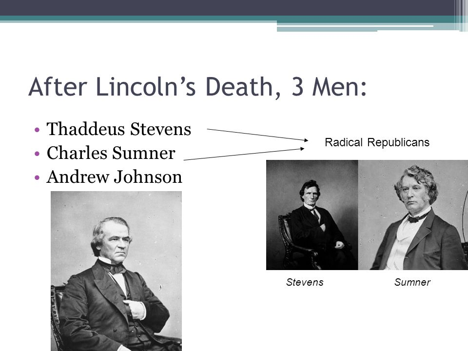 After Lincoln's Death, 3 Men: