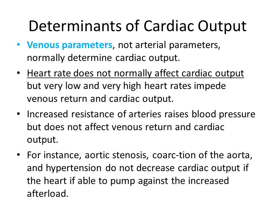 Determinants of Cardiac Output
