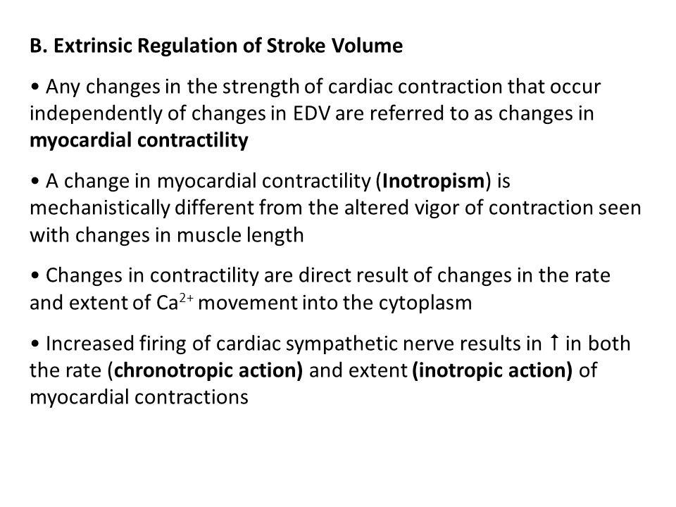 B. Extrinsic Regulation of Stroke Volume