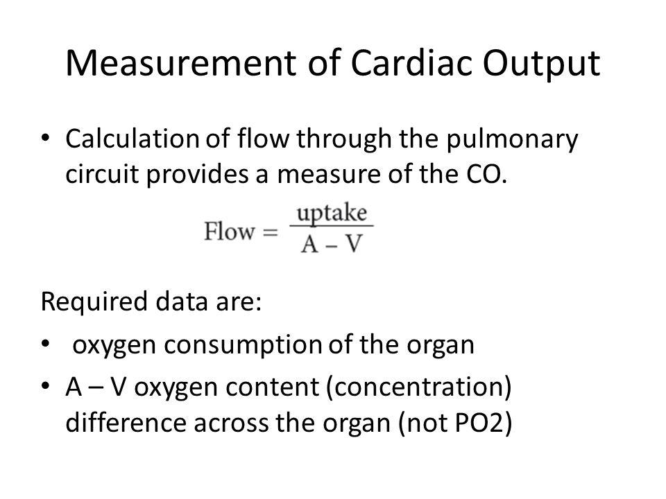Measurement of Cardiac Output