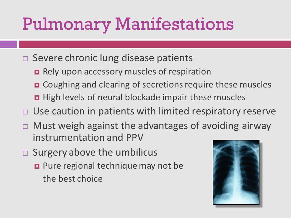 Pulmonary Manifestations