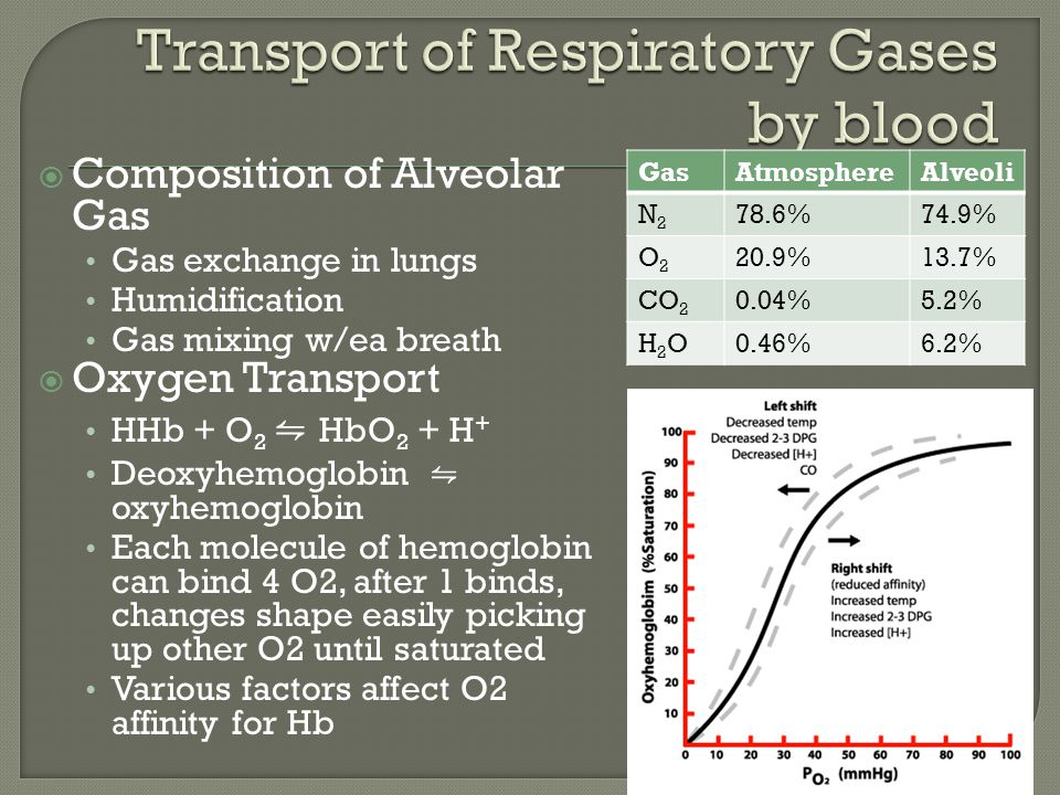 Transport of Respiratory Gases by blood