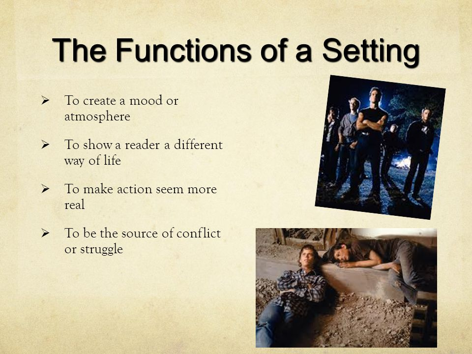 The Functions of a Setting