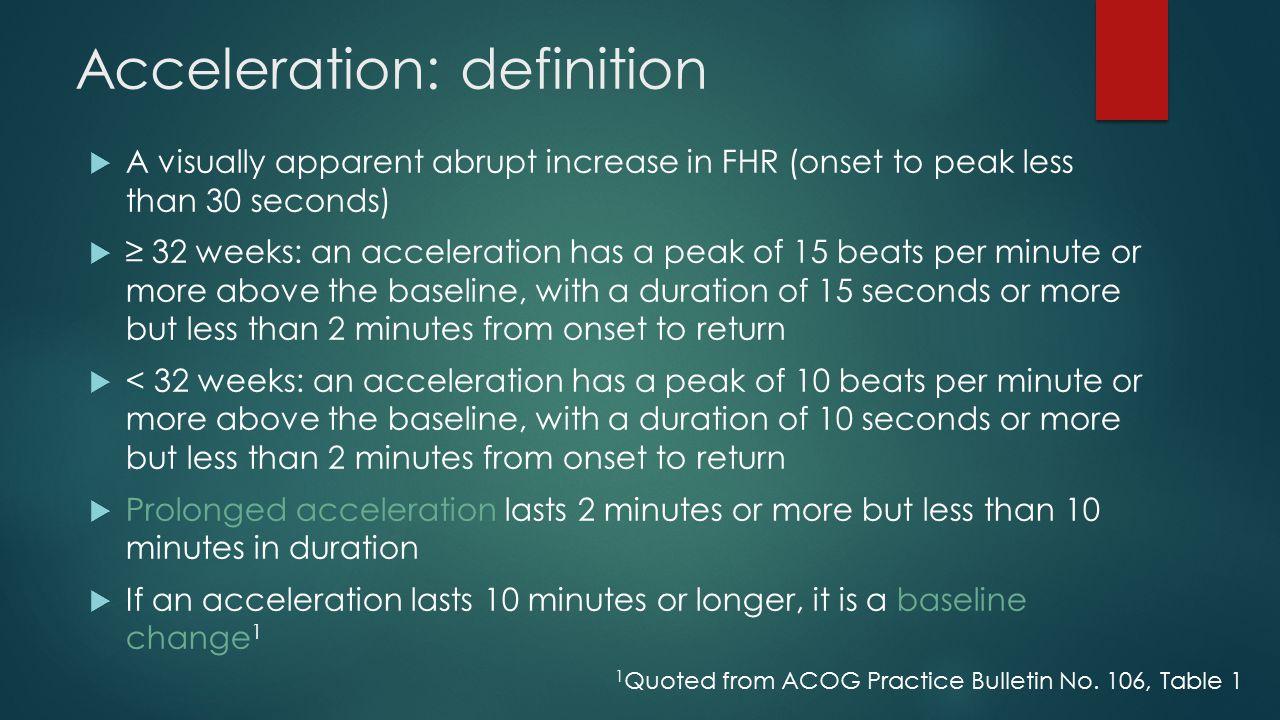 Acceleration: definition