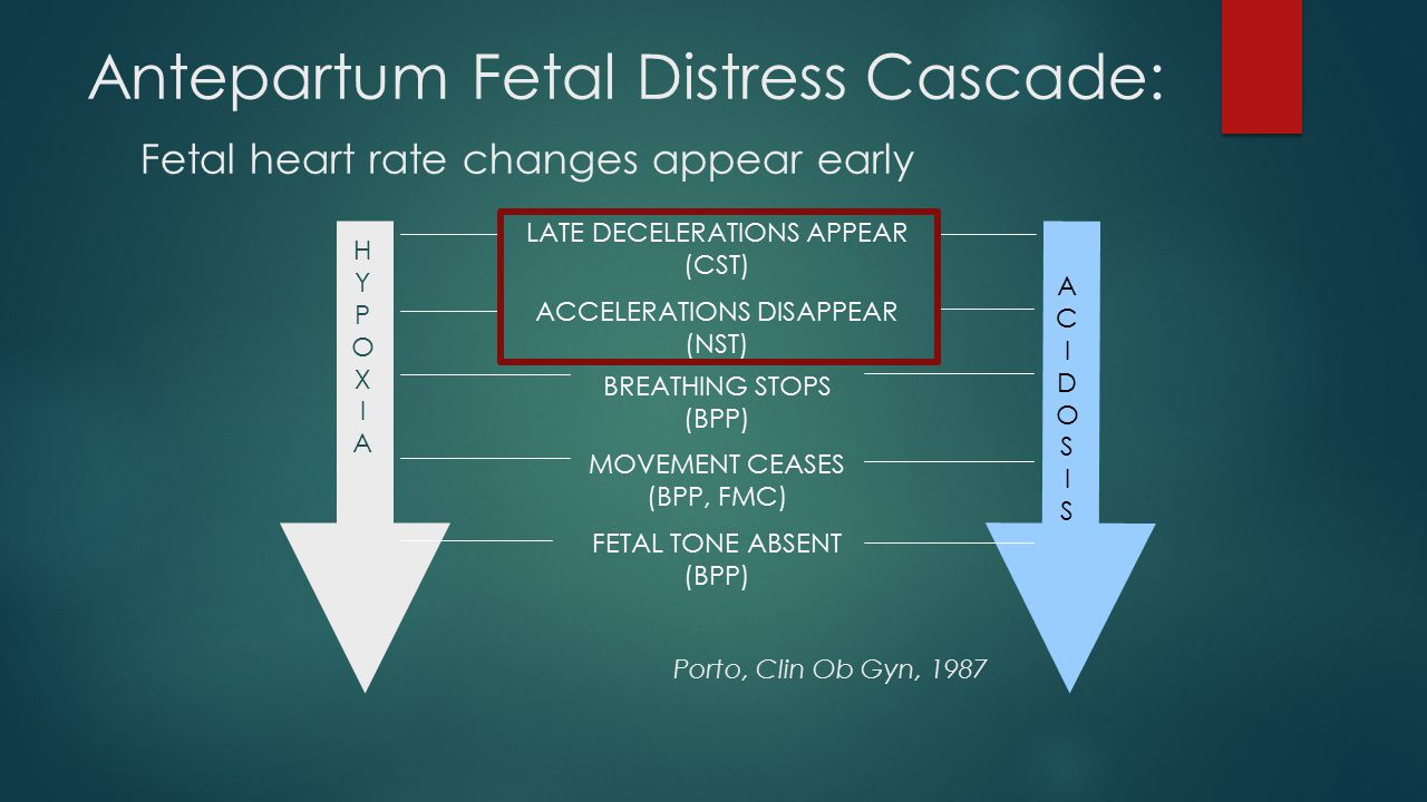 Antepartum Fetal Distress Cascade:
