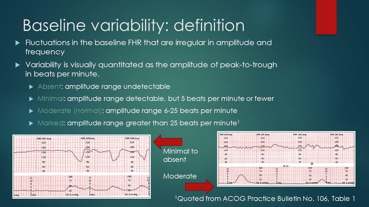 Baseline variability: definition