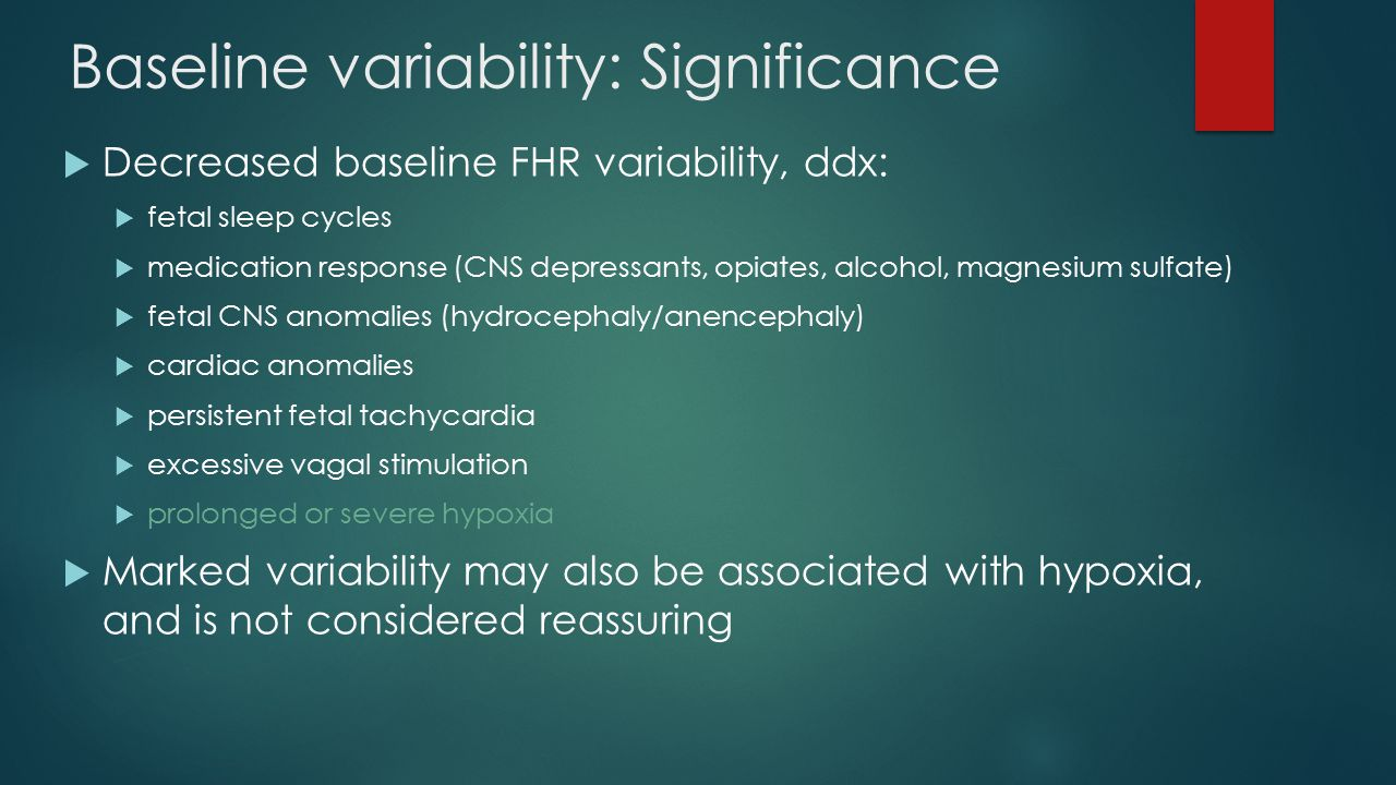 Baseline variability: Significance