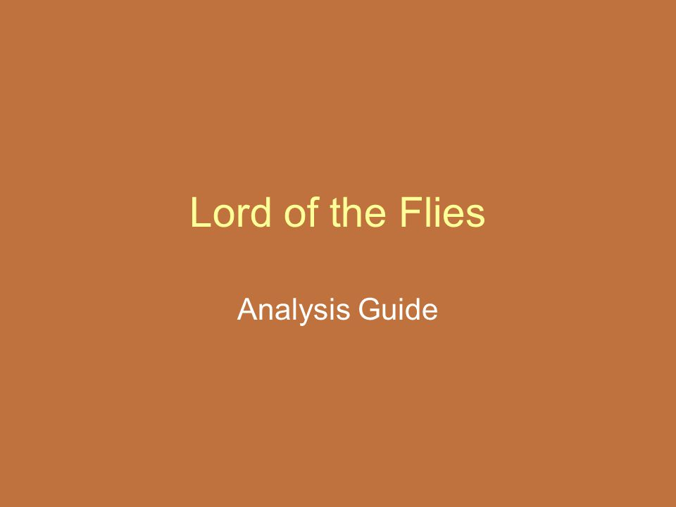 Lord of the Flies Analysis Guide
