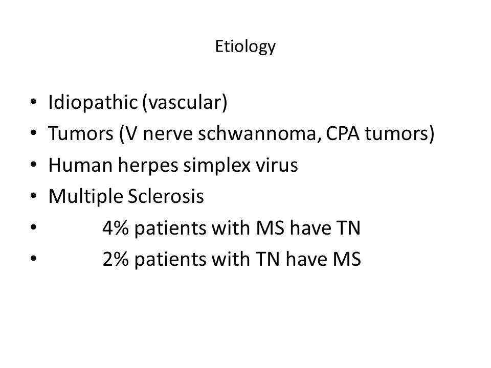 Idiopathic (vascular) Tumors (V nerve schwannoma, CPA tumors)