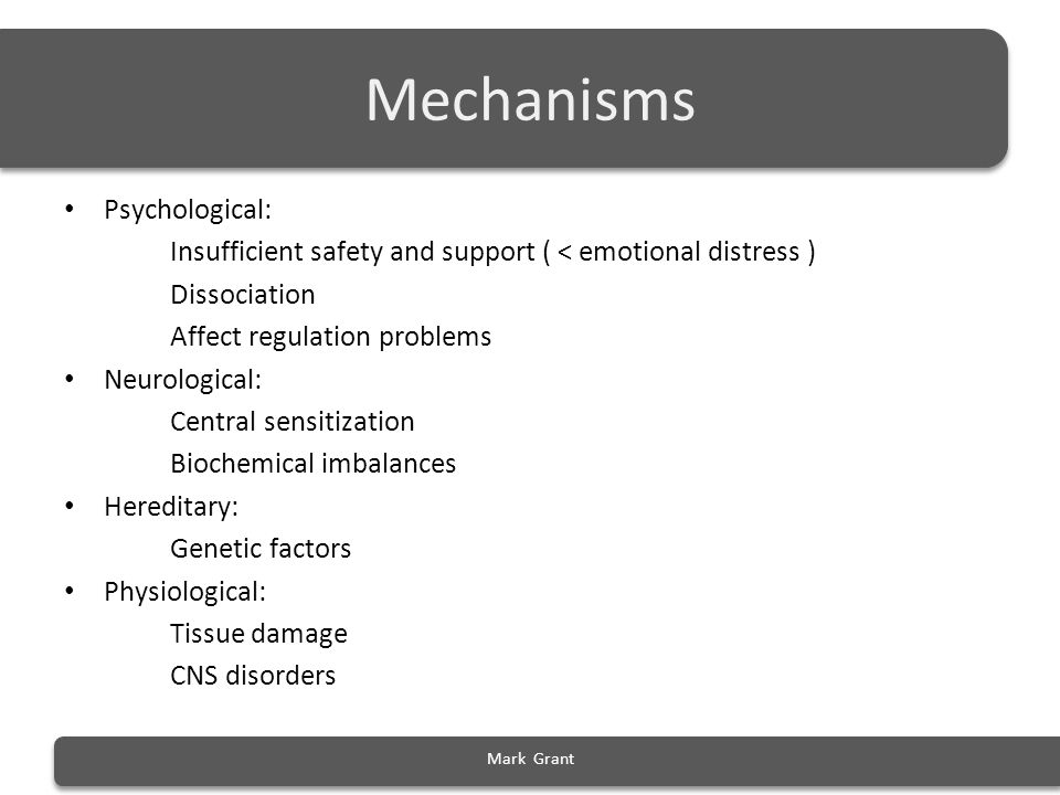 Mechanisms Psychological: