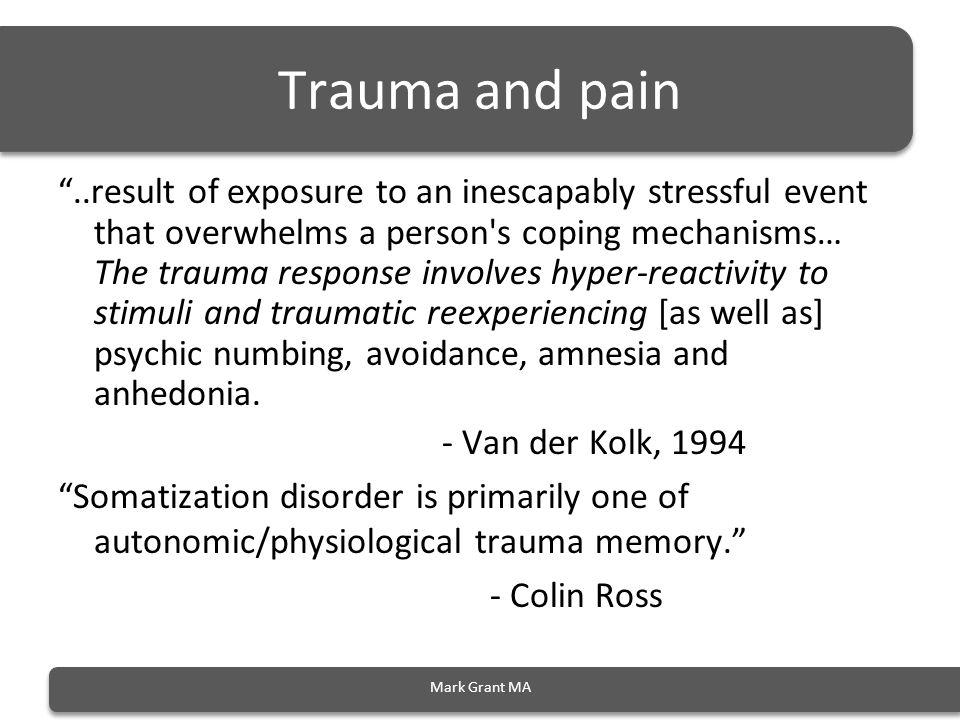 Trauma and pain