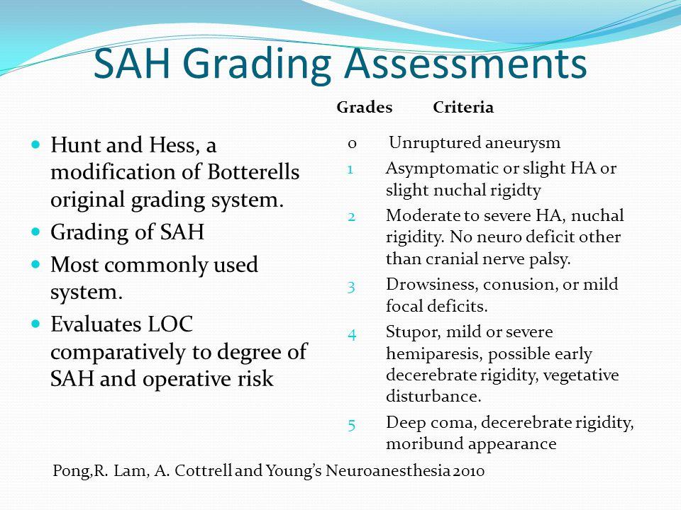SAH Grading Assessments