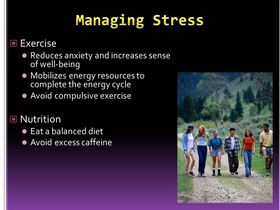 Managing Stress Exercise Nutrition