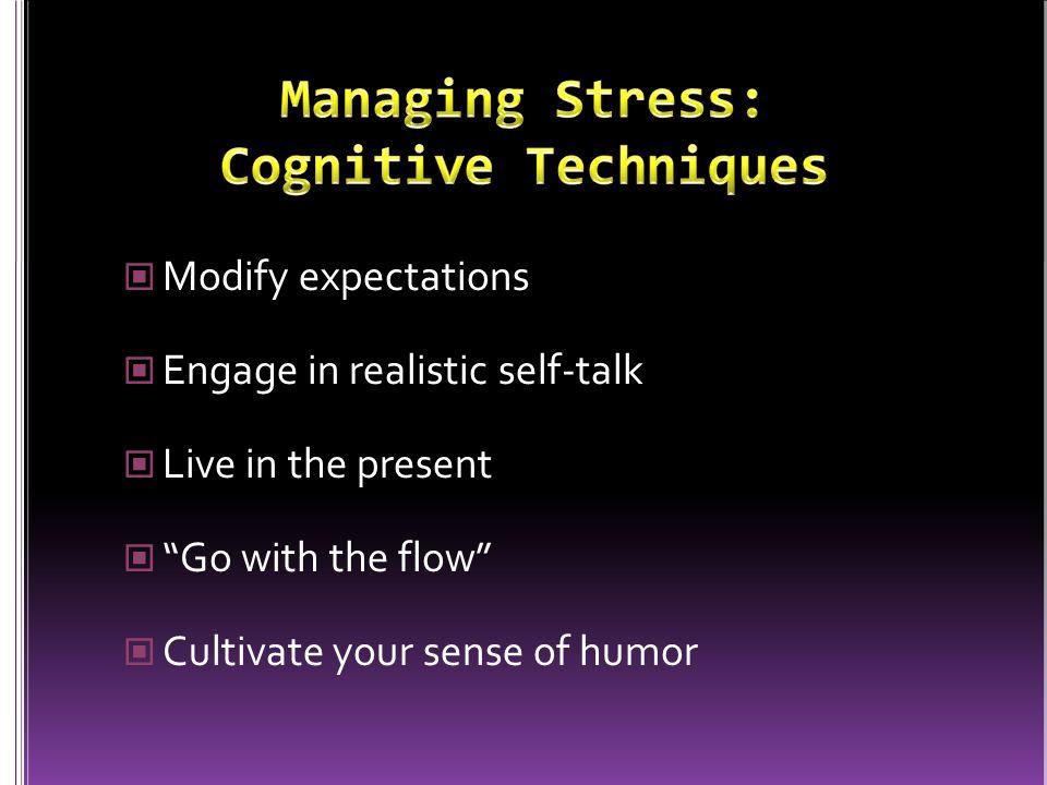 Managing Stress: Cognitive Techniques
