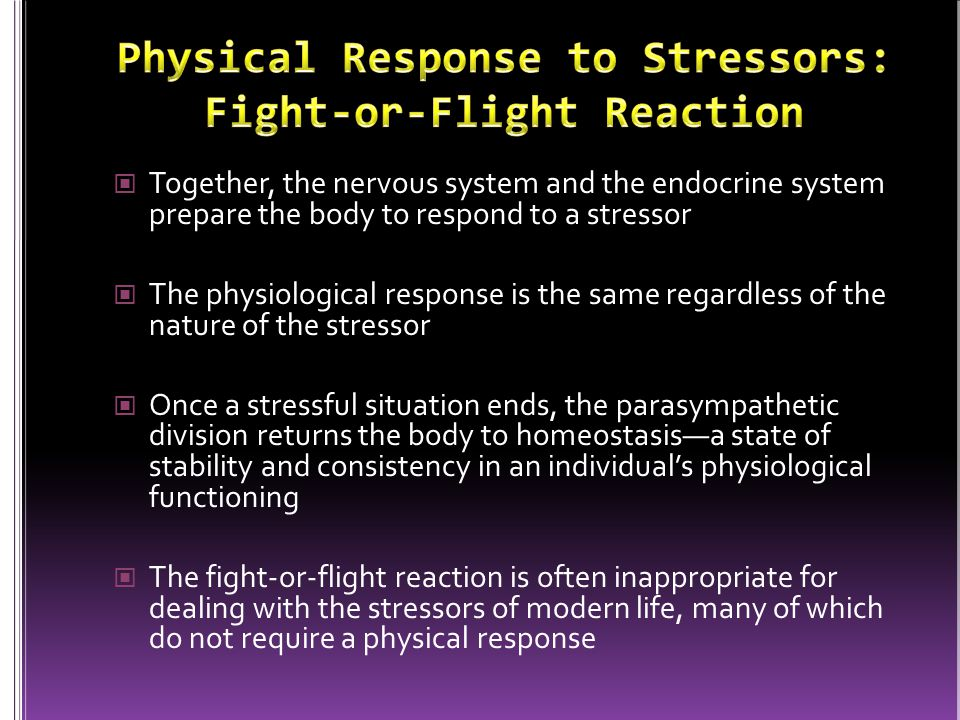 Physical Response to Stressors: Fight-or-Flight Reaction