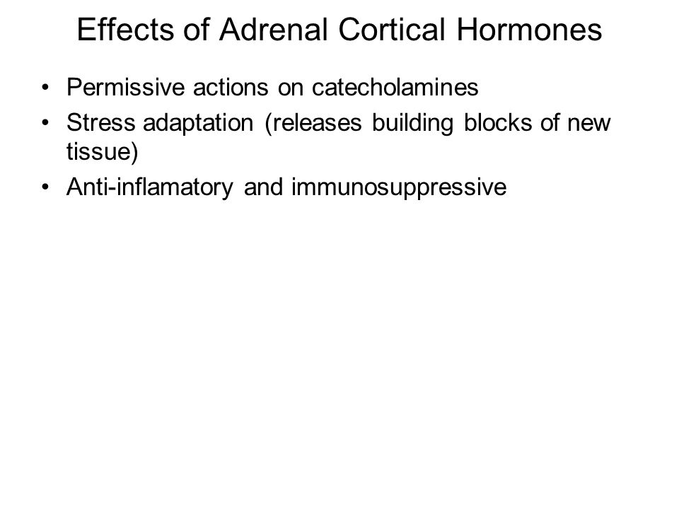 Effects of Adrenal Cortical Hormones