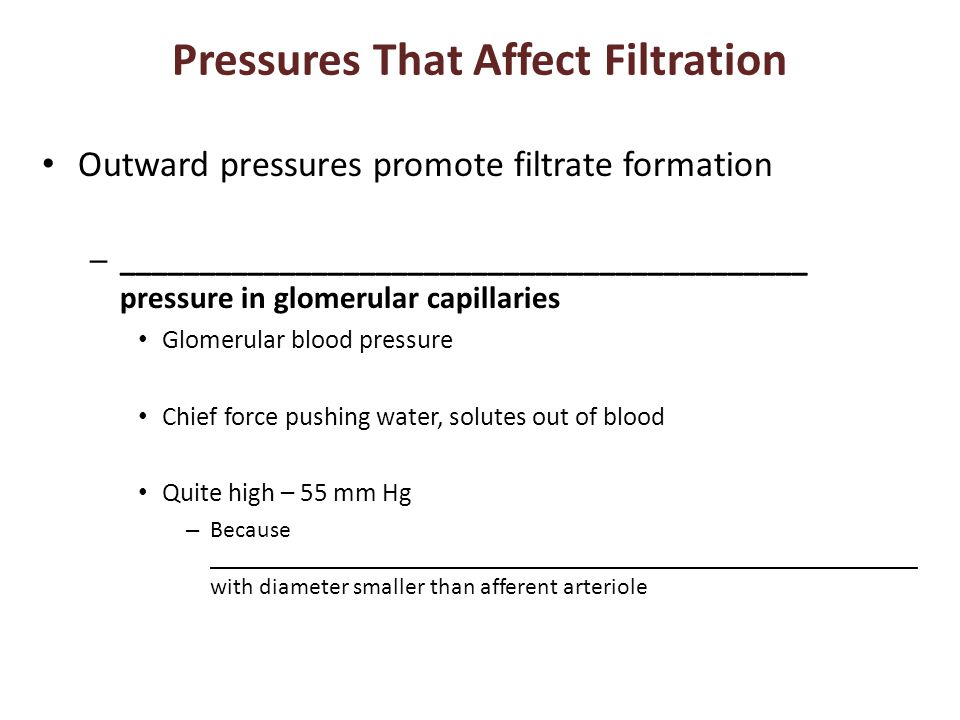 Pressures That Affect Filtration