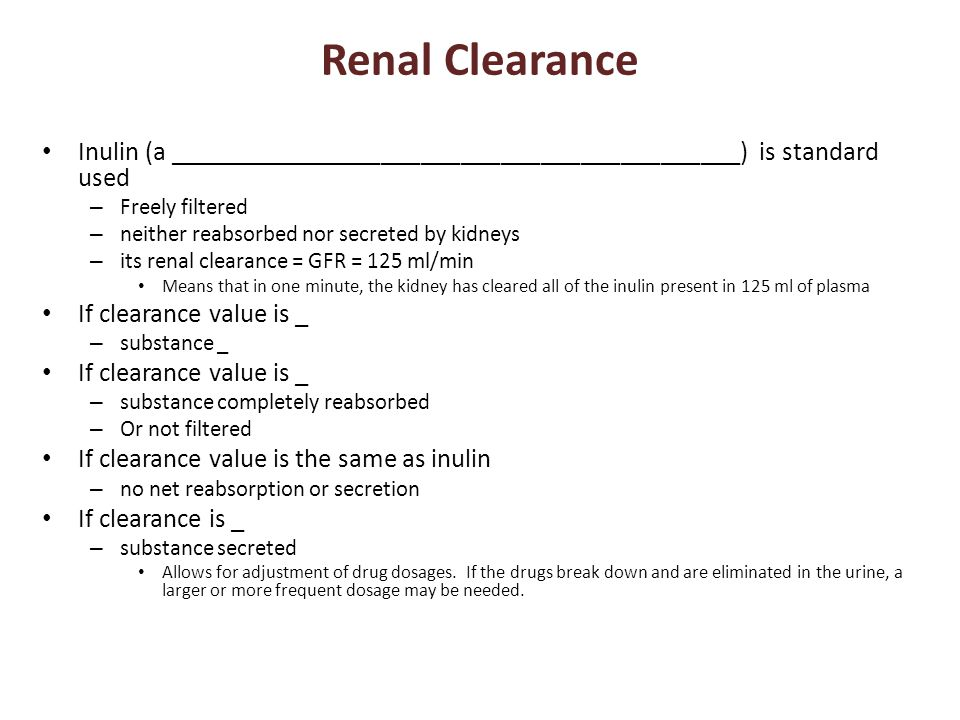Renal Clearance Inulin (a ___________________________________________) is standard used. Freely filtered.