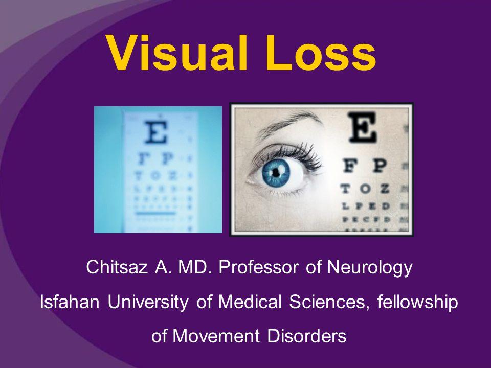 Visual Loss Chitsaz A. MD.
