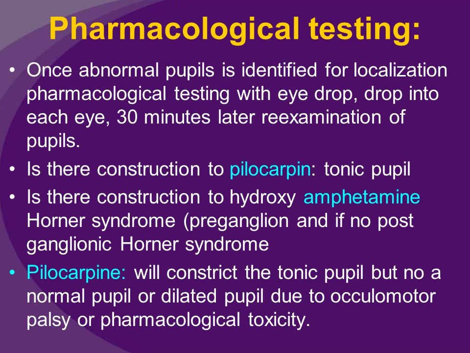 Pharmacological testing: