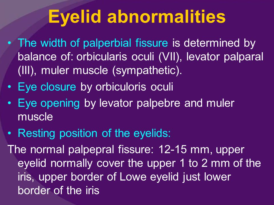 Eyelid abnormalities