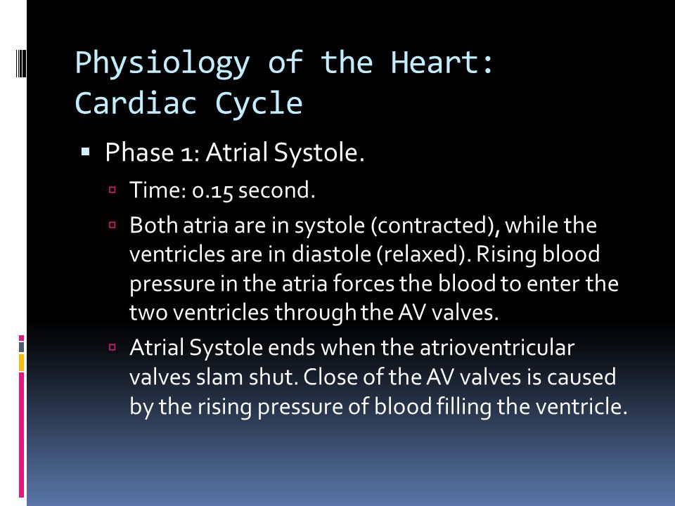 Physiology of the Heart: Cardiac Cycle