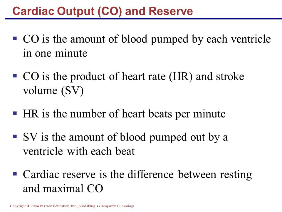Cardiac Output (CO) and Reserve