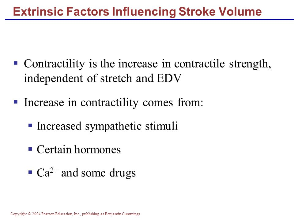 Extrinsic Factors Influencing Stroke Volume