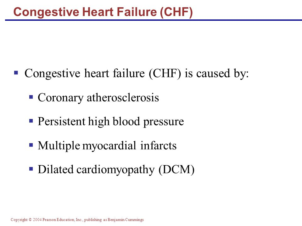 Congestive Heart Failure (CHF)