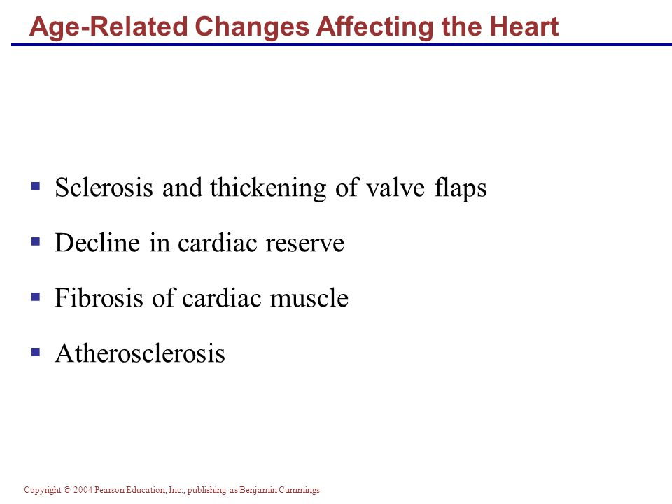 Age-Related Changes Affecting the Heart