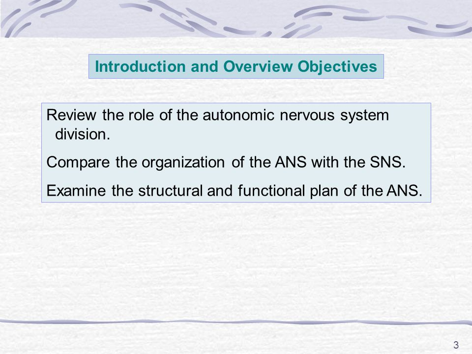 Introduction and Overview Objectives