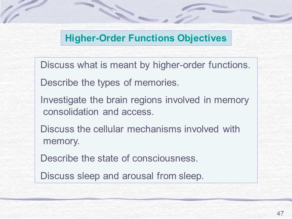 Higher-Order Functions Objectives