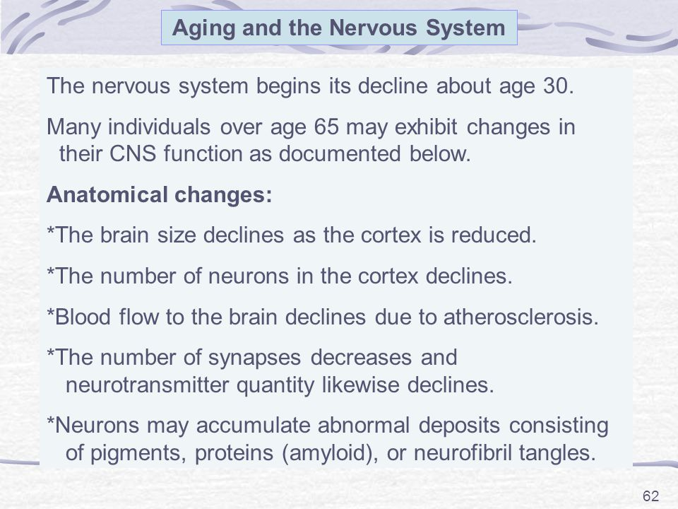 Aging and the Nervous System