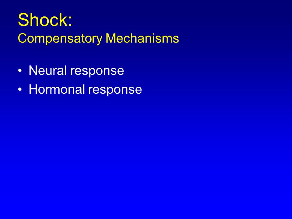 Shock: Compensatory Mechanisms