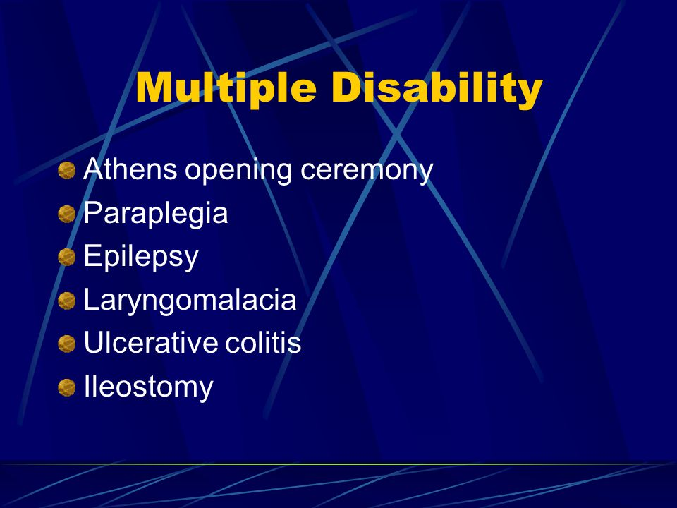Multiple Disability Athens opening ceremony Paraplegia Epilepsy