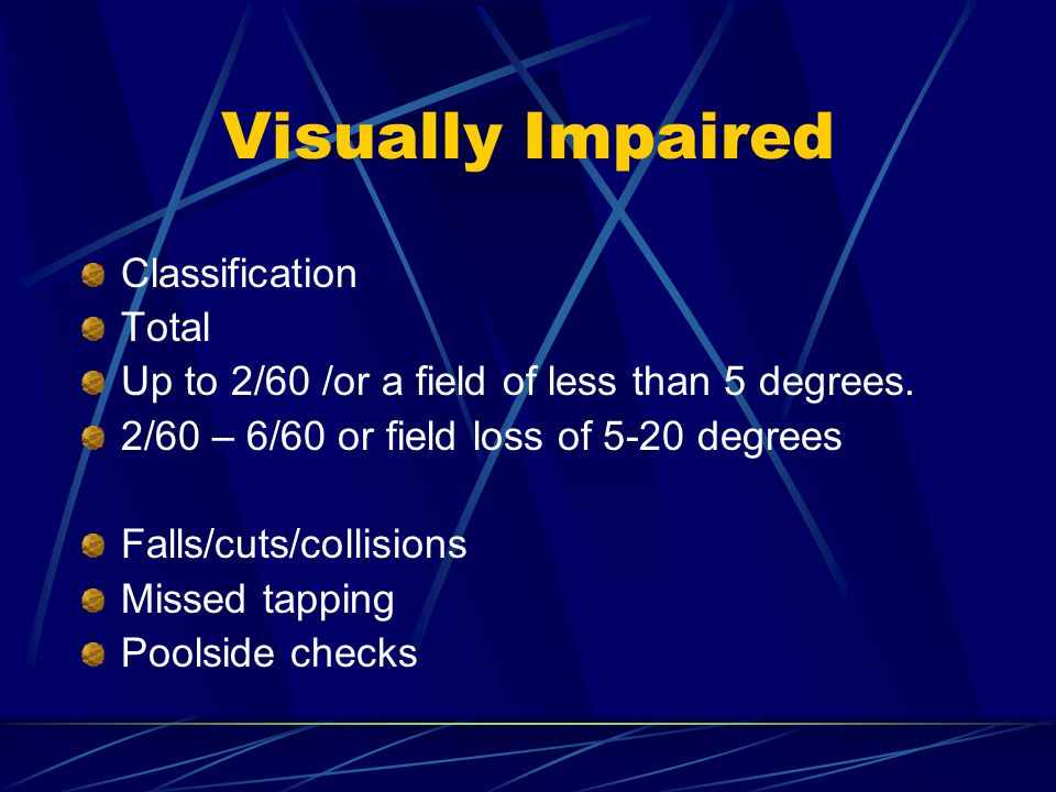 Visually Impaired Classification Total