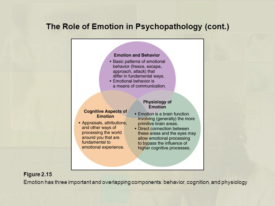 The Role of Emotion in Psychopathology (cont.)