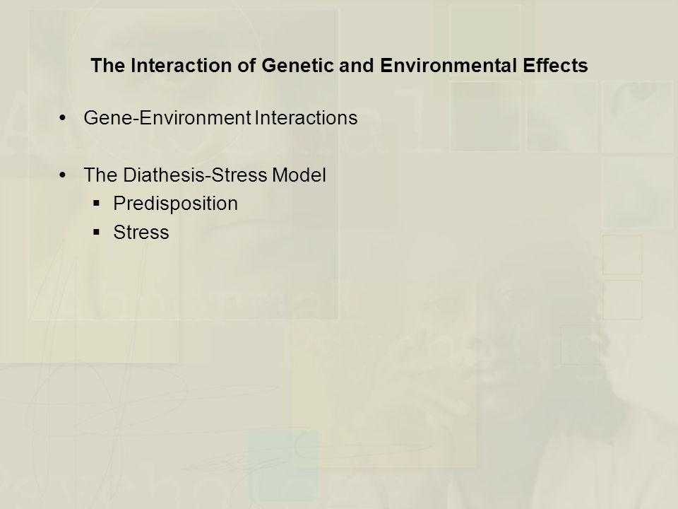 The Interaction of Genetic and Environmental Effects