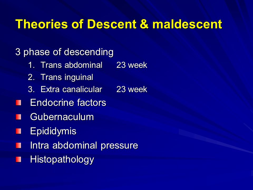 Theories of Descent & maldescent