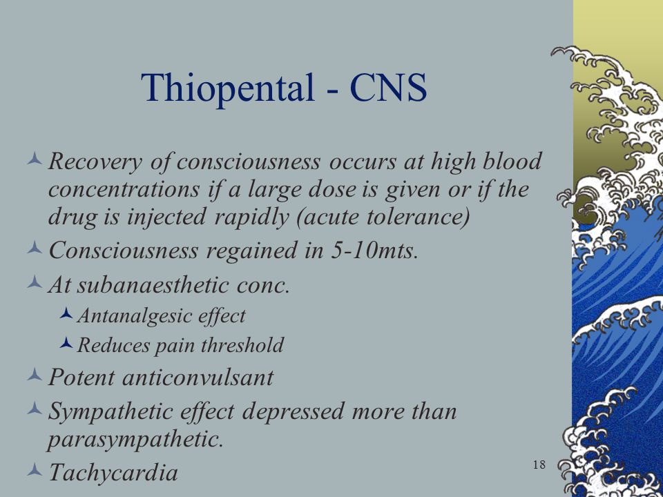 Thiopental - CNS
