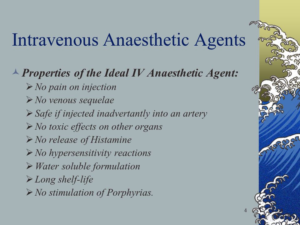 Intravenous Anaesthetic Agents