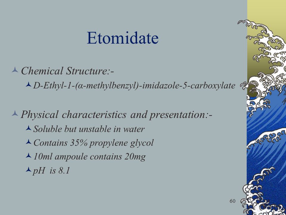 Etomidate Chemical Structure:-