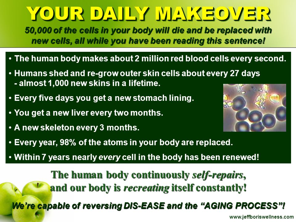 We're capable of reversing DIS-EASE and the AGING PROCESS !