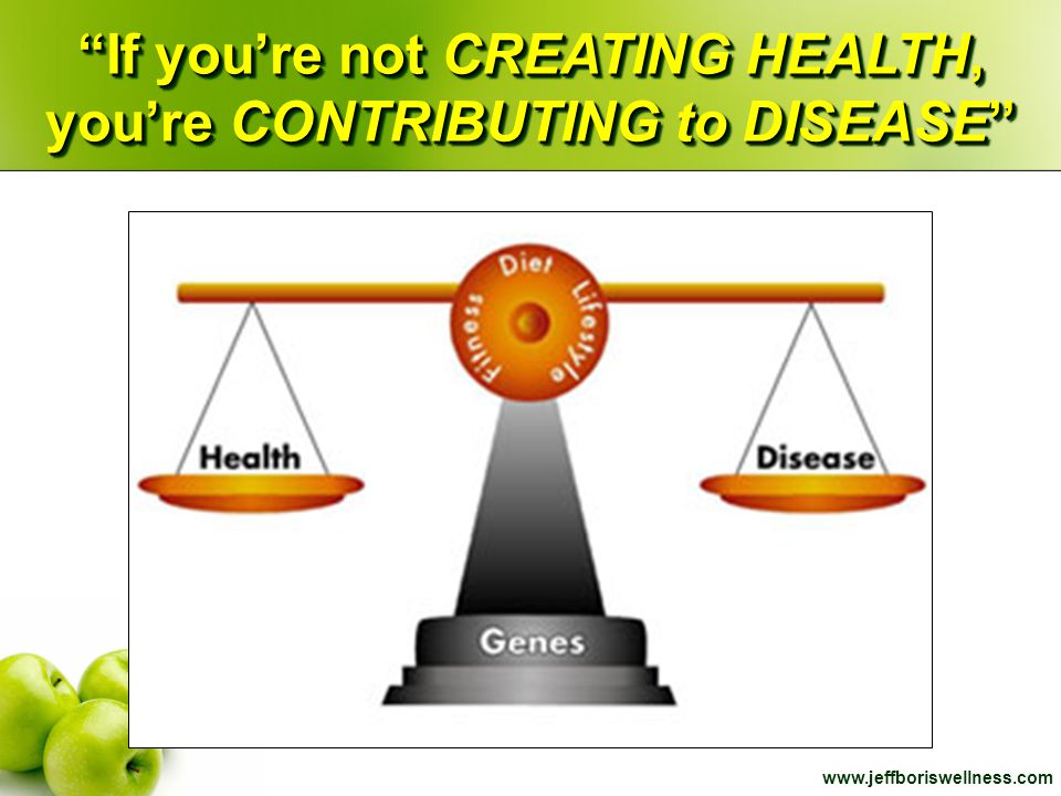 If you're not CREATING HEALTH, you're CONTRIBUTING to DISEASE
