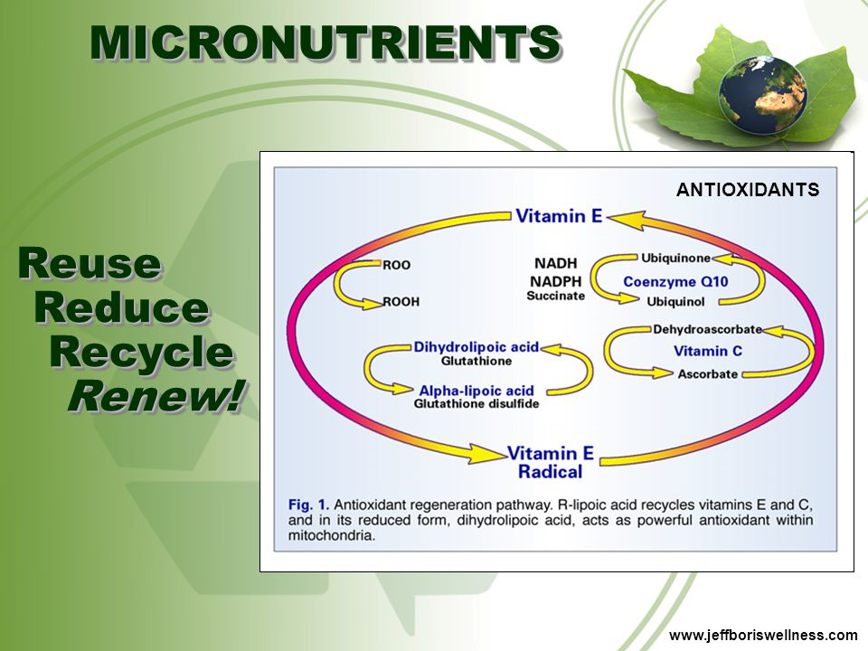 MICRONUTRIENTS Reuse Reduce Recycle Renew! ANTIOXIDANTS