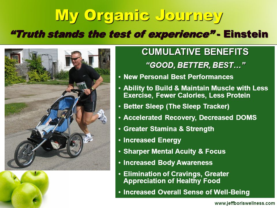 My Organic Journey Truth stands the test of experience - Einstein