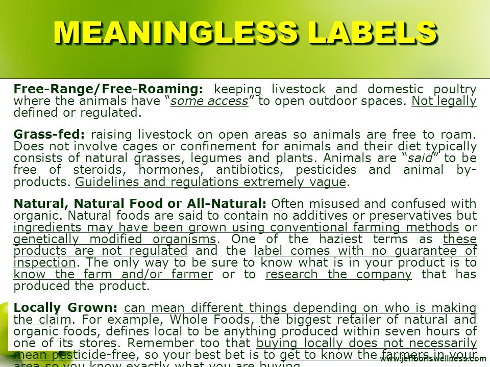 MEANINGLESS LABELS