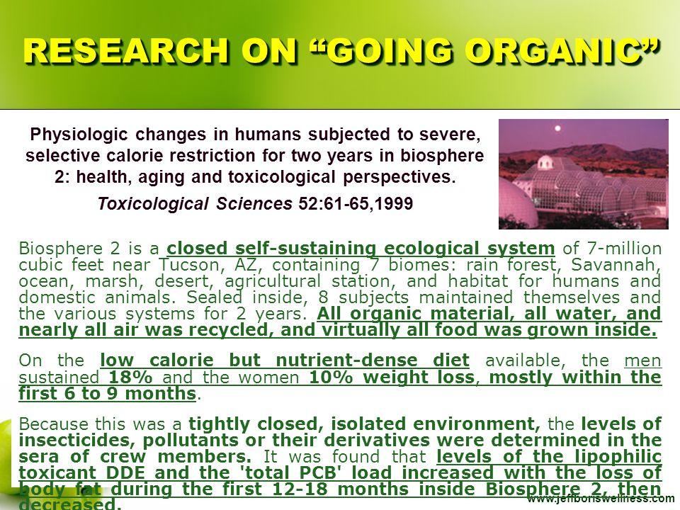 RESEARCH ON GOING ORGANIC