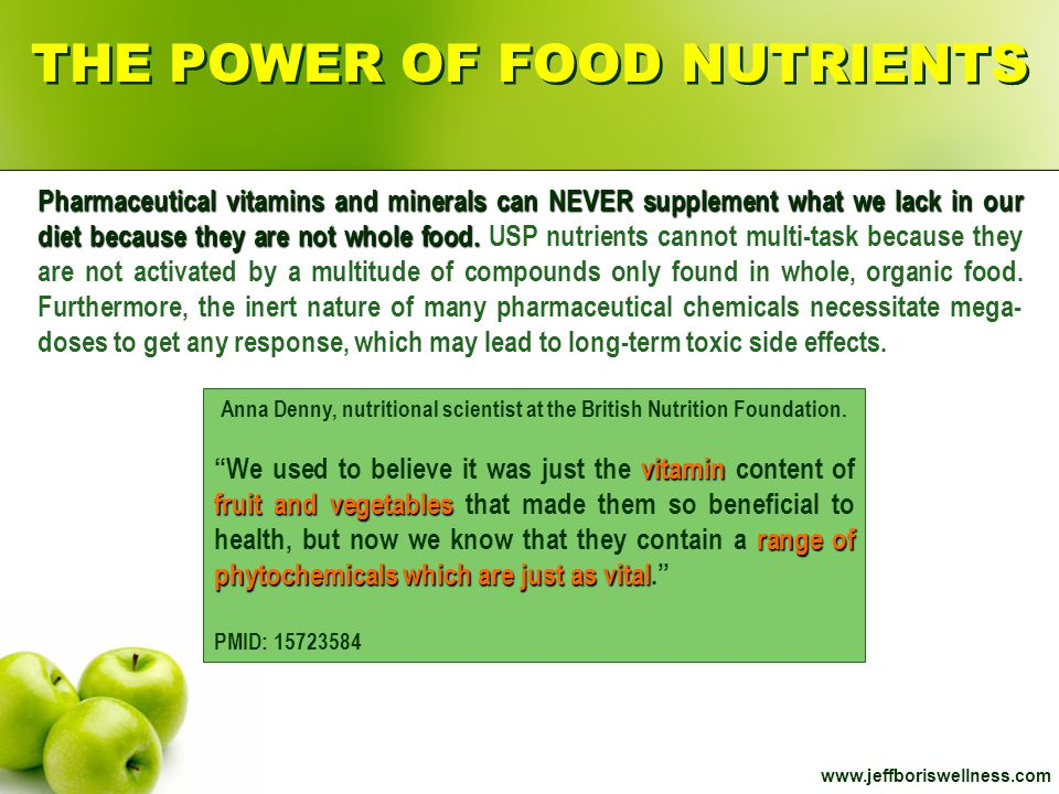 THE POWER OF FOOD NUTRIENTS
